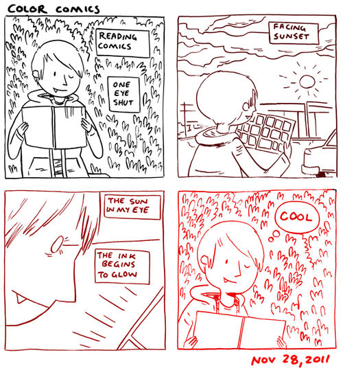 my first journal comic in color